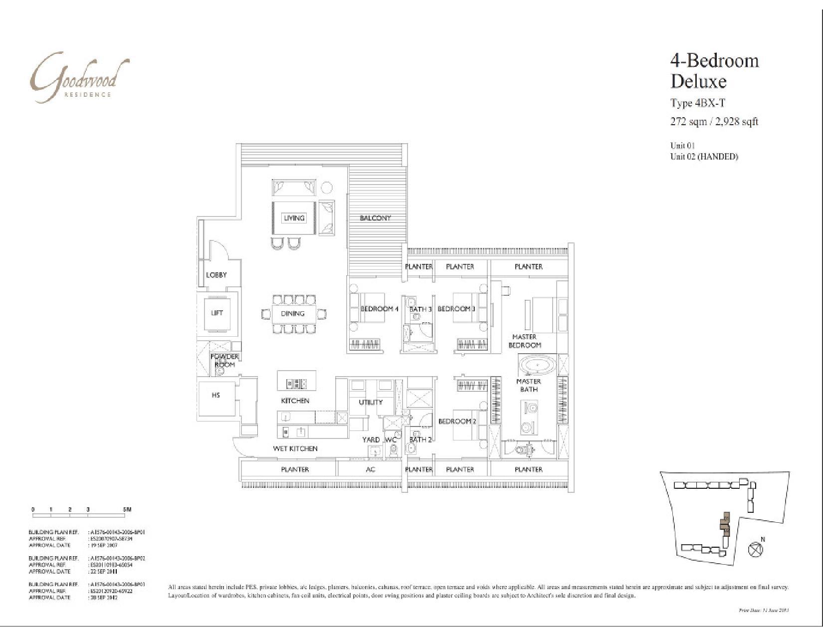 4 Bedroom Deluxe Goodwood Residence 2 Electrical Plan Type 4bx T Floor Plans